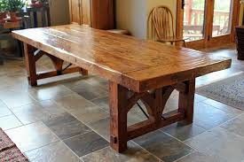 Wood Kitchen Table Plans Free by Marvelous Farmhouse Dining Table Plans With Diy Farmhouse Table