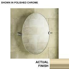 Bathroom Tilt Mirror Hardware by Shop Kohler Revival 26 125 In W X 28 5 In H Oval Tilting Frameless