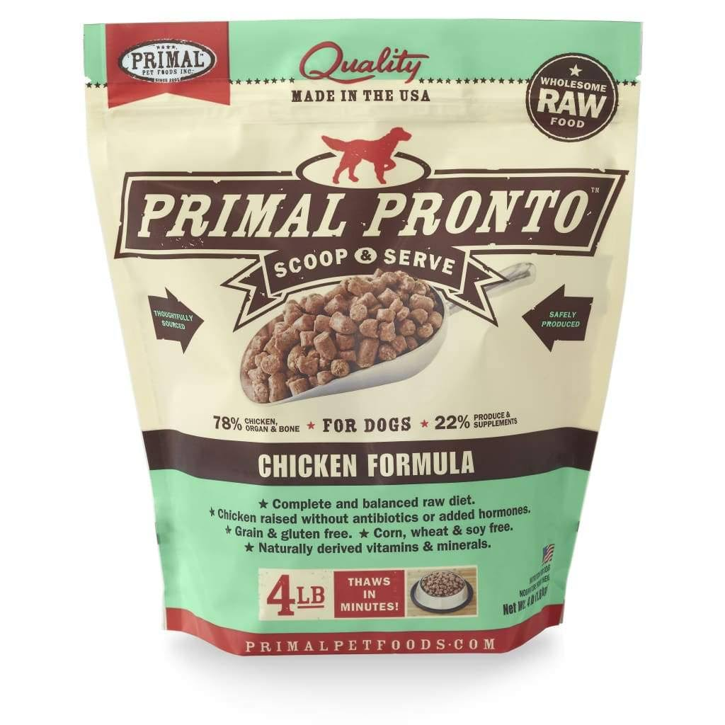 Primal Pronto Dog Food - Chicken, 4lb
