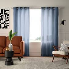 highlawn solid semi sheer grommet curtain panels set of 2