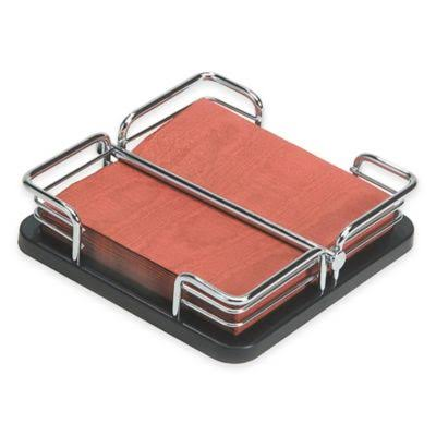 Oggi Stainless Steel Napkin Holder - with Lift Bar and Rubber Feet