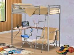 Low Loft Bed With Desk Underneath by Bedroom Trendy Metal Bunk Bed With Desk Underneath Dresser Combo