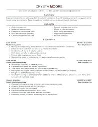 Resume Examples For Hostess Hostesses Air Sample Objective