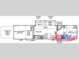 5th Wheel Toy Hauler Floor Plans by Used 2007 Forest River Rv Wildwood Xl 376srv Toy Hauler Fifth