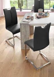 mca furniture freischwinger artos 2er set stuhl bis 140 kg belastbar