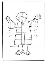 Joseph And The Coat Of Many Colors Coloring Page Ziho