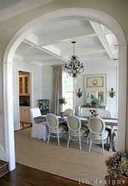 Gorgeous Dining Room With A Beautiful Mix Of Slipcovered End Chairs And Wood Fabric Side