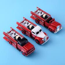 100 Metal Fire Truck Toy 3pcs 143 Alloy Car Model Die Cast Vehicle Slide