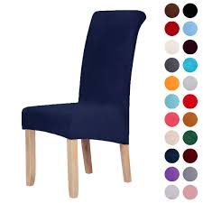 Velvet Stretch Dining Chair Slipcovers - Spandex Plush Short Chair Covers  Solid Large Dining Room Chair Protector Home Decor Set Of 6, Navy Blue Stretch Ding Room Chair Covers Soft Spandex Short Protector Removable Slipcover Set Of 2 Aqua Blue Menswear Slipcovers By Shelley Ihambing Ang Pinakabagong Colorful Prting Elastic High Back Room Ideas Great Bay Home 4pack Velvet Plush Printed Cover Kitchen Seat Slip Red Grey Navy Beige Set 4 6 Pool Excellent Astonishing Amusing Chairs Fabric Ideas Accent Covered Diy Light Elegant Polyester And Washable Sure Fit Pinstriped Products