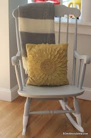 Light Grey Rocking Chair Cushions by 80 Miles To Brewster Rocking Chair Makeover Paint Dipped Diy