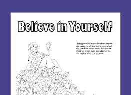 Free Coloring Page For Teaching Self Esteem