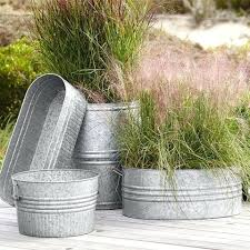 Galvanized Metal Planter Galvanized Metal Patio Planters