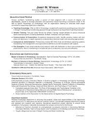 Example Of Resumes For Graduate School