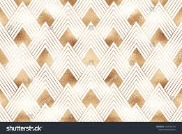 100 Art Deco Shape Seamless Pattern Gold Geometric Stock Vector Royalty Free