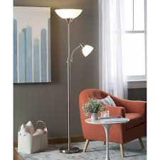 Mainstays Floor Lamp With Reading Light Assembly by Adesso Lighting 7202 22 Piedmont Combo Floor Satin Steel