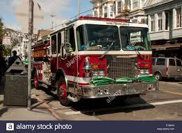 100 Truck San Francisco Fire Truck On 24th Street In Noe Valley In Stock