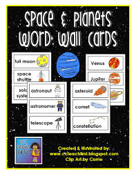 You Can Purchase This At Our TPT Store HERE The Space Doodles Clip Art Used To Created These Word Wall Cards Is Also Available For