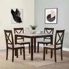 Wayfair Furniture Kitchen Sets by Dorel Living Sunnybrook Rustic 5 Piece Dining Set Rustic Espresso