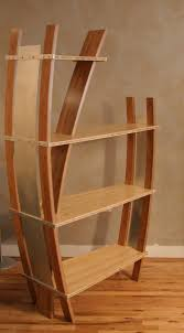 Curved Bookcase In Bamboo