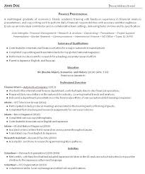 Resume Summary Examples For Students