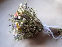 Meadow Country Wedding Dried Flower Bouquet For Rustic Garden And Outdoor