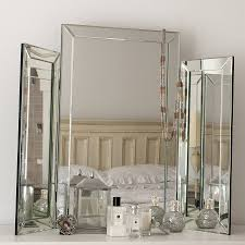 Vanity Table With Lighted Mirror Canada by Table Breathtaking Large Bevelled Dressing Table Triple Mirror
