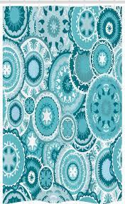 abakuhaus duschvorhang badezimmer deko set aus stoff mit haken breite 120 cm höhe 180 cm wasser mandala runde kaufen otto