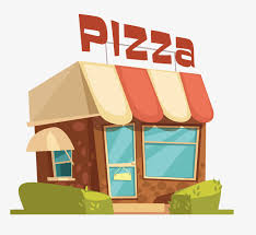Cartoon Casual Pizza Physical Shop Png Clipart