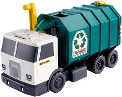 Amazon.com: Matchbox Garbage Truck Lrg (Amazon Exclusive): Toys & Games
