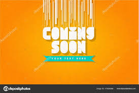 Coming Soon Trendy Banner Web Page Template Frame Badge Poster On Orange Background Texture For Site Easy Editable Your Design