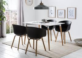 2 x esszimmerstühle schalenstuhl stuhl schwarz scandi nordin