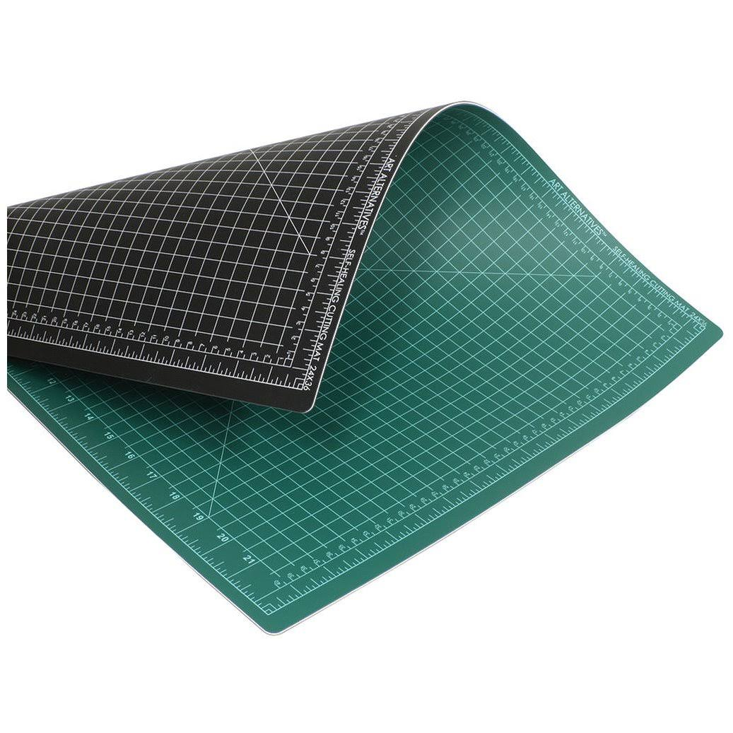 "Art Alternative Cutting Mat - Green/Black, 24"" x 36"""