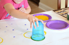Circle Art Process Painting Open Ended Creative Activity For Toddlers Preschoolers Kindergarteners