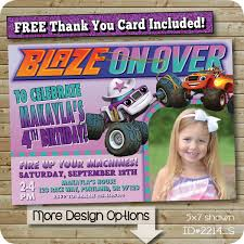 Blaze And The Monster Machines Invitations, Starla Invite, Blaze ... Blaze And The Monster Machines Invitation Birthday Truck Cake Cbertha Fashion And The Party Supplies Canada Open Amazoncom Invitations 8ct Its Fun 4 Me 5th Themed Alanarasbachcom Machine By Free Printable Cupcake Fill In Design Sophisticated