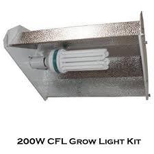 200w cfl fluorescent bulb grow light reflector hydroponics
