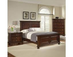 Vaughan Bassett Bedroom Sets by Reflections King Storage Sleigh Bedroom Set Dark Cherry By
