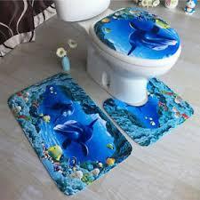 3x weihnachten badteppich badgarnitur vorleger wc matte