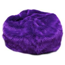 Buy Your Large Beanbag In Purple Fuzzy Fur Here The Is Perfect Comy And Cozy Spot For Child