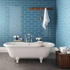 pretty bathroom blue tile paint colors gray floor shower