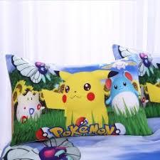 Pokemon Bedding Set Pikachu Printed Duvet Cover Cartoon for Kids