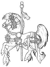 Carousel Horse Coloring Page Free Pages More To Color Book