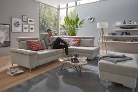mondo eckgarnitur loft comfort stoff grau ca 280x240cm 81340001a0