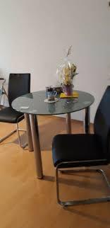 glastisch mit stühlen tisch günstig wohnungsauflösung