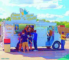 Ice Cream Truck Painting