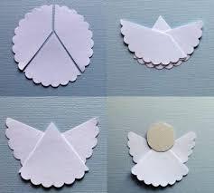 Make Simple Origami Angel Paper Craft Step Diy Tutorial Instructions