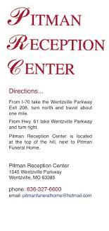 Pitman Funeral Home Reception Center