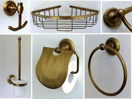 nostalgische bad serie antik messing chrom accessoires retro