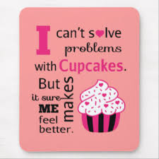 Cute Cupcake Quote Happiness Mouse Pad