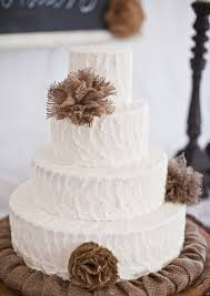 Southern Blue Celebrations Burlap Lace Cake Ideas And Inspirations