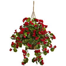 Citronella Lamp Oil Tesco by 28 Inch Red Outdoor Geranium In Hanging Basket Limited Uv